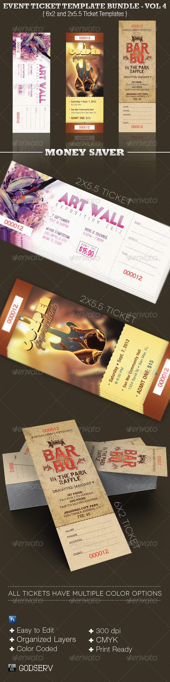 best ideas about raffle ticket printing baby event ticket template bundle volume 4 12 00
