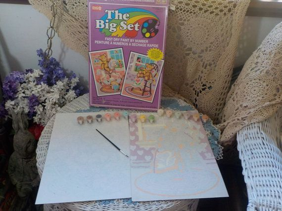 The Big Set Craft House Paint By Number Kit with 2 Pictures in