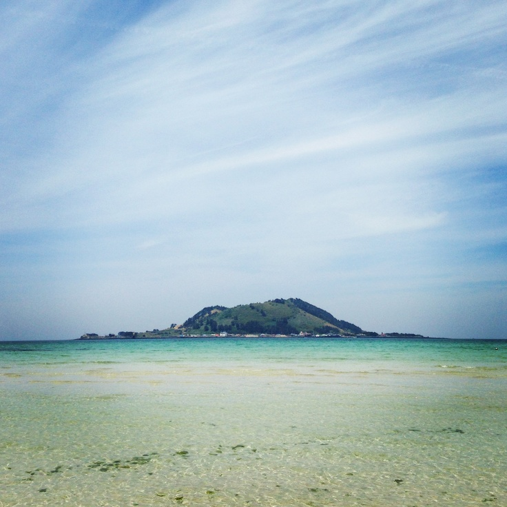 Hyeopjae beach in Jeju Island. Korea attraction.