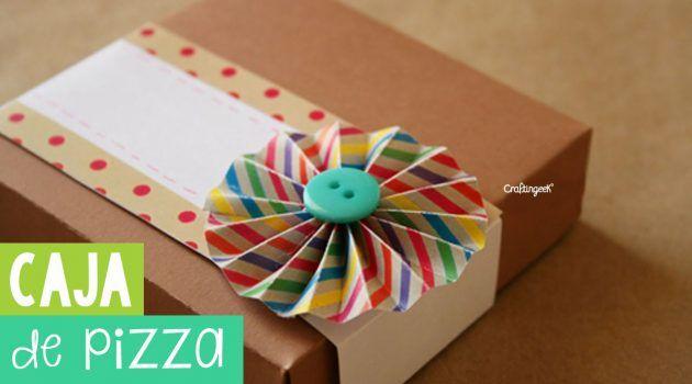 Caja de pizza scrapbook – empaque original para regalo