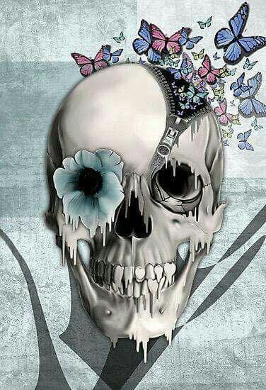 Skull Flower Butterflies