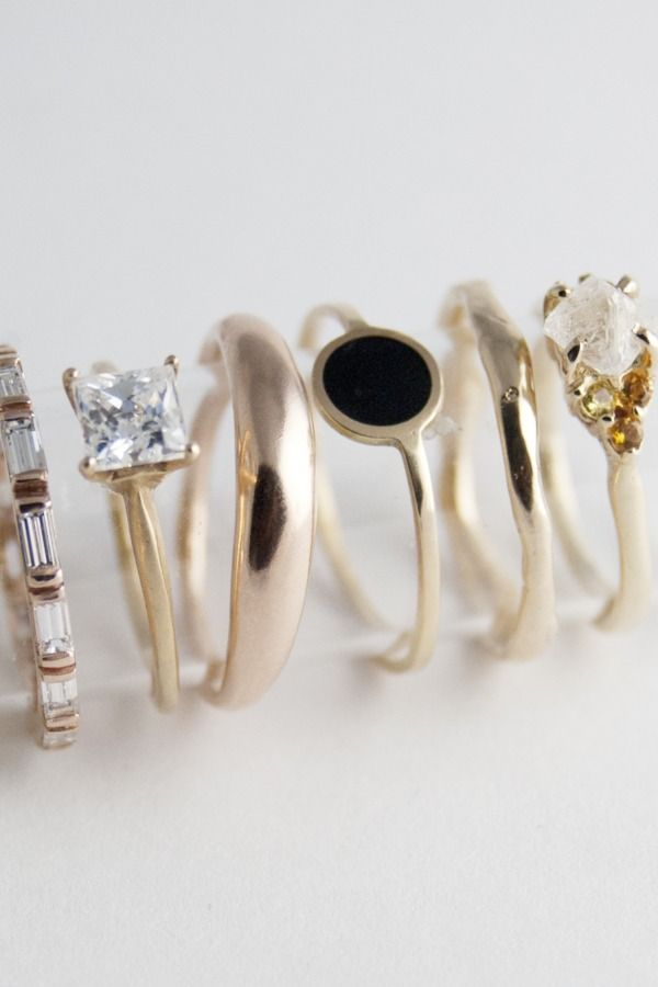 Bario-Neal Jewelry: Worth a look perhaps? I'm not sure if it's your style or not, but I love all their stuff. And it's all ethically sourced, etc.: Stackable Rings, Weddings Rings, Bario Neal, Black Rings, Gold Rings, Stacking Rings, Jewelry Rings, Bario N Jewelry, Bling Bling