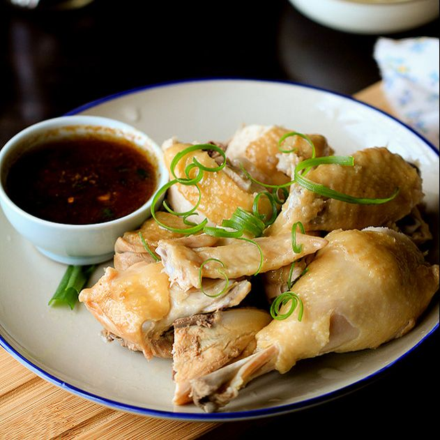 Heart Destroyer | chinese steamed chicken in ginger scallions and garlic sauce