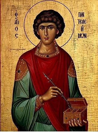 wonderful icon of Saint Panteleimon the Physician (link for story)