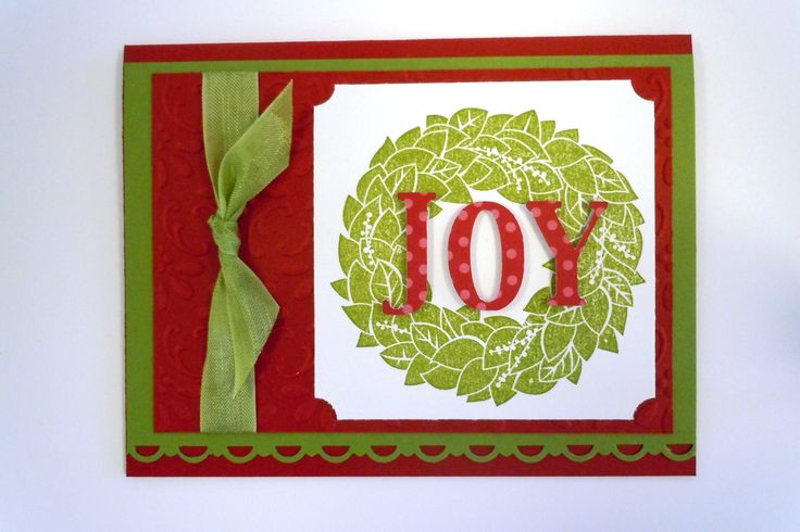 Christmas Card made with Stampin' Up! wonderful Wreath stamp set