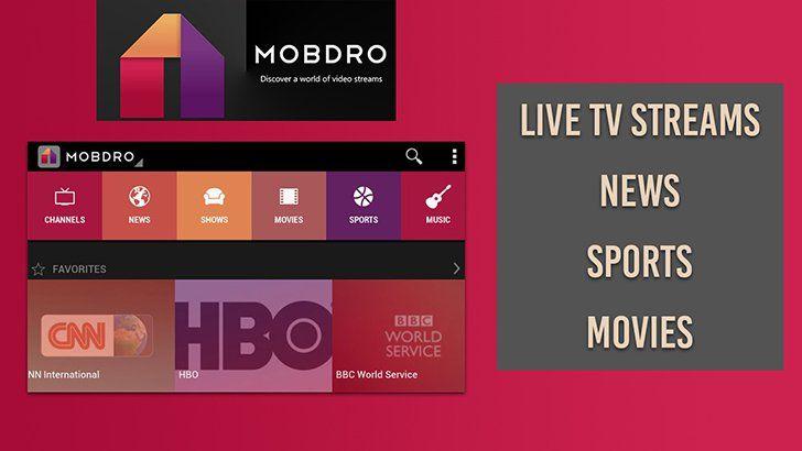 Mobdro App Android Aplicativos E Servicos De Streaming