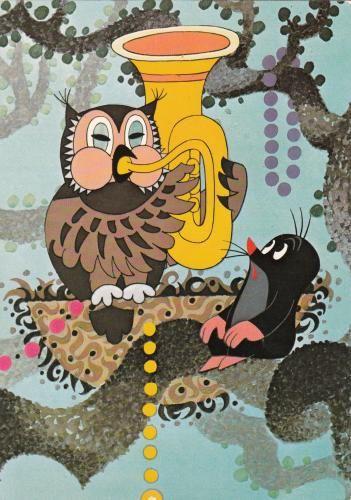(2014-10) Uglen spiller tuba, muldvarpen ser på