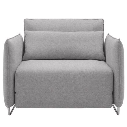 Softline - cord sofa chair, felt grey (620), single image