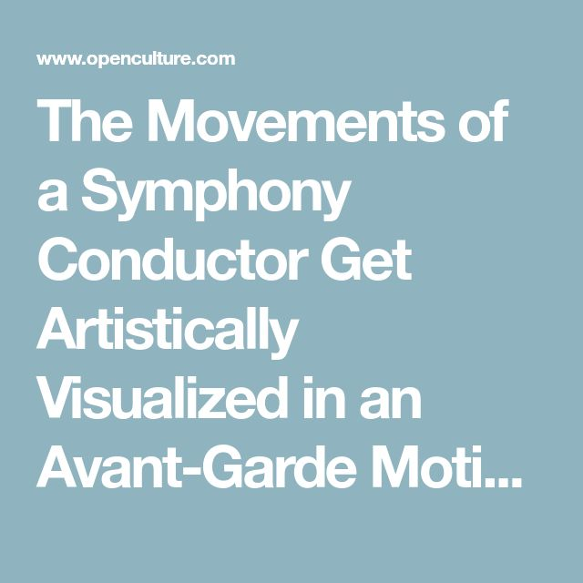 The Movements of a Symphony Conductor Get Artistically Visualized in an Avant-Garde Motion Capture Animation