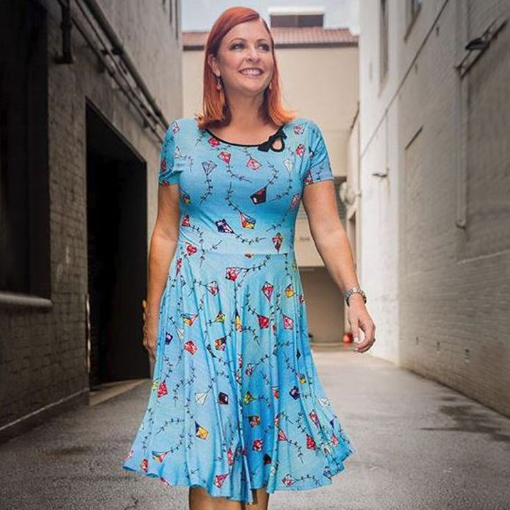 Kites and Kisses Dress in Sky