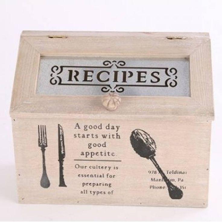 Wooden Recipes Box