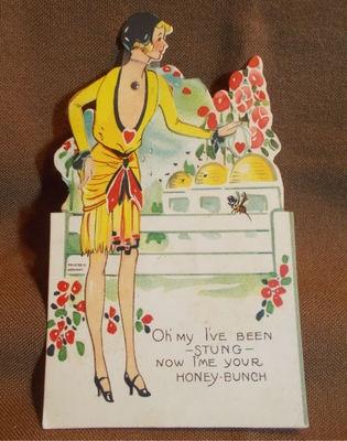 Vintage Valentine Art Deco Flapper Mechanical Germany | eBay