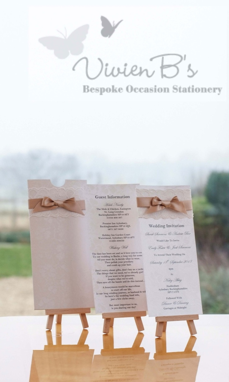 A stunning and classic collection. Wedding invitations and wedding stationery, available from VivienB's in thame, oxford, oxfordshire, and Available throughout the United Kingdom, UK, USA, Europe, and worldwide. Contact us via our website www.vivienbs.com