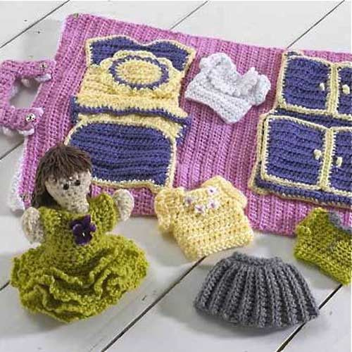 Watch Maggie review this super cute Hayley's House Crochet Pattern! Original Designs By: Donna Collinsworth Intermediate Skill Materials: Light Worsted Weight Yarn: Rose (MC) - 4.5 oz, 332 yd (128 g,