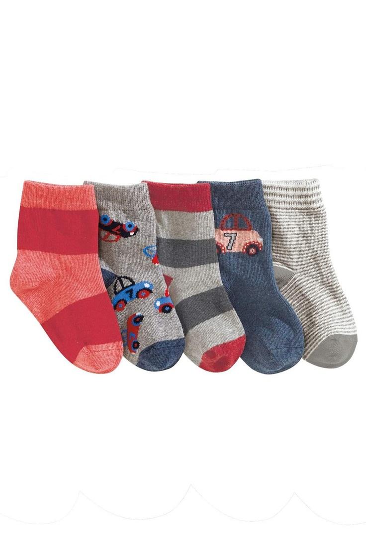 Newborn Accessories - Baby Accessories and Infantwear - Next Car Socks 5pk - EziBuy Australia
