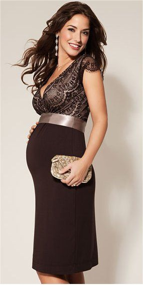 Zwanger partykleding Tiffany Rose Rosa-Dress-Mocha