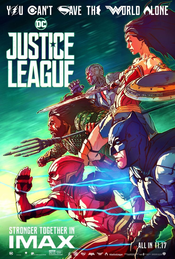 Justice League (2018) Green Background Movie Poster - Perhaps indication that the Green Lantern will make his appearance too?