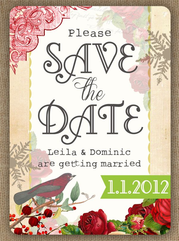 save date cards christmas theme
