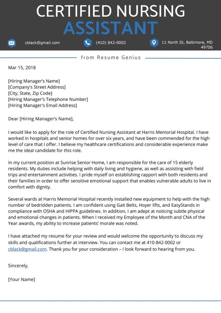 Explore our example of nurse assistant resignation letter