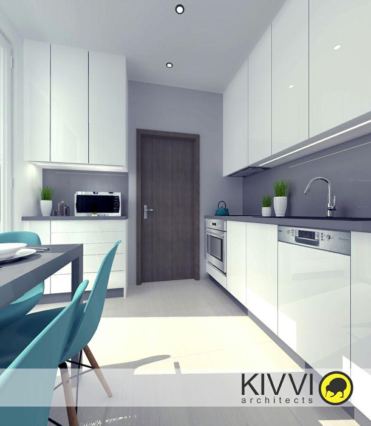 Návrh Interiéru kuchyne. Interiérový dizajn od Kivvi architects_Kitchen interior www.kivvi.sk