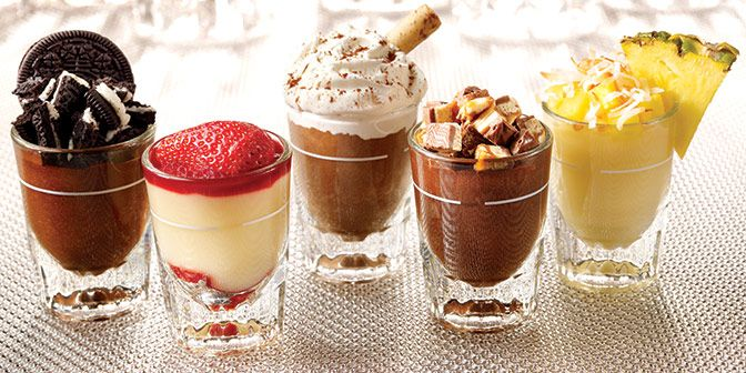 Shot Glass Desserts.