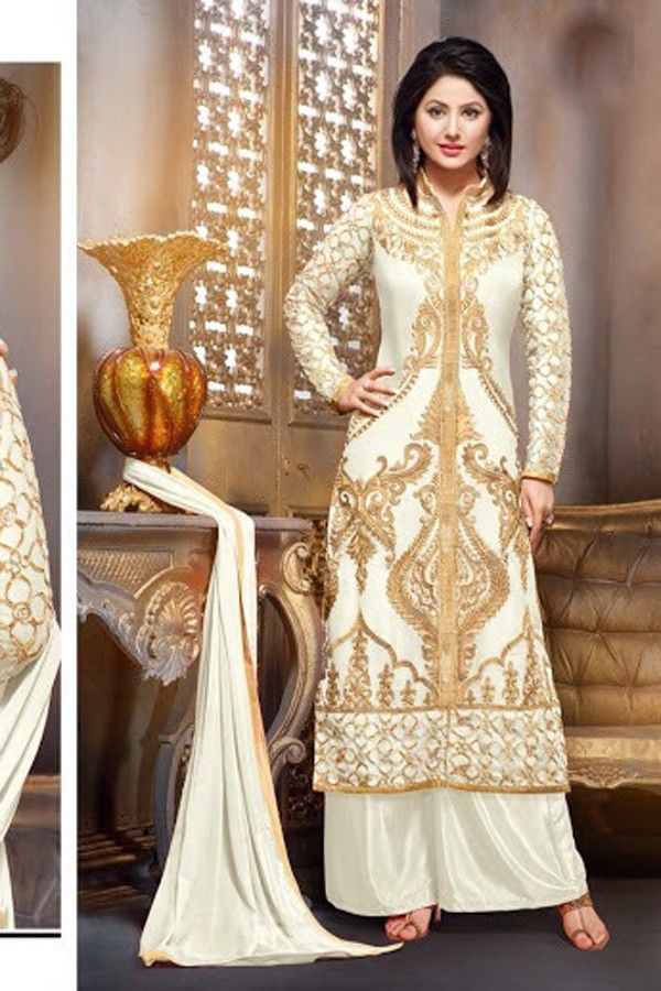 Hina Khan - White Faux Georgette Salwar Kameez with Embroidered and Lace Work - Z2588P55010-d-40 #celebrity #salwar #kameez @ http://zohraa.com/salwar-kameez.html #celebrity #zohraa #onlineshop #womensfashion #womenswear #bollywood #look #diva #party #shopping #online #beautiful #beauty #glam #shoppingonline #styles #stylish #model #fashionista #women #lifestyle #fashion #original #products #saynotoreplicas