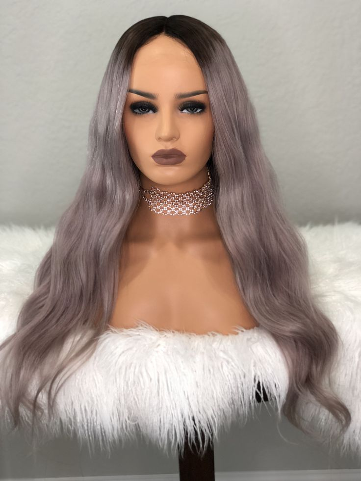 Violet balayage, ombre, full lace wig, lace front wig