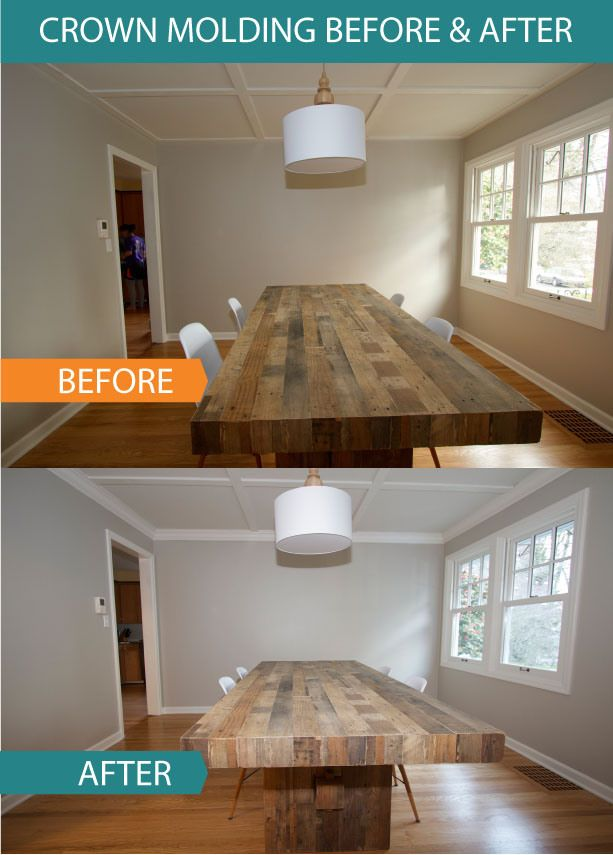 Best crown molding tips tricks home diy projects for Kitchen cabinets crown molding installation instructions