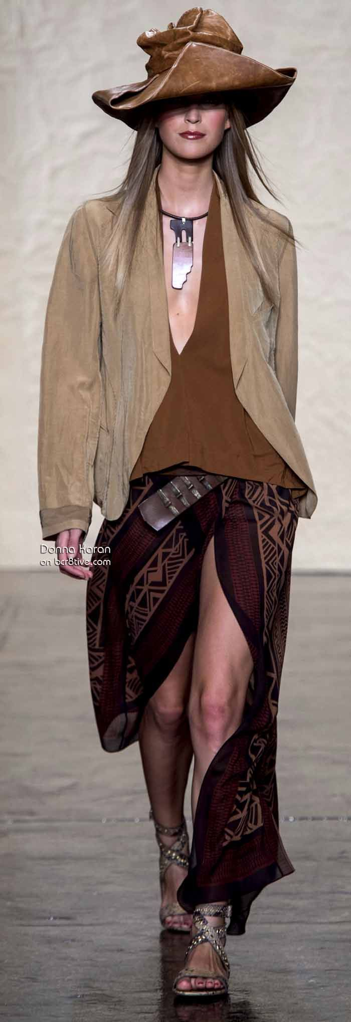 """Im going to refer to this one as """"Paddington's Hat"""". I love this Donna Karan. Spring 2014 #NYFW"""