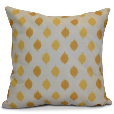 "The Holiday Aisle Hanukkah 2016 Decorative Holiday Geometric Outdoor Throw Pillow Size: 16"" H x 16"" W x 2"" D, Color: Yellow"