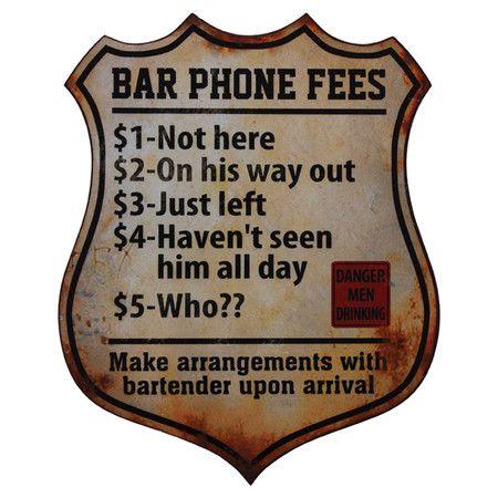 Bar Fees Plaque