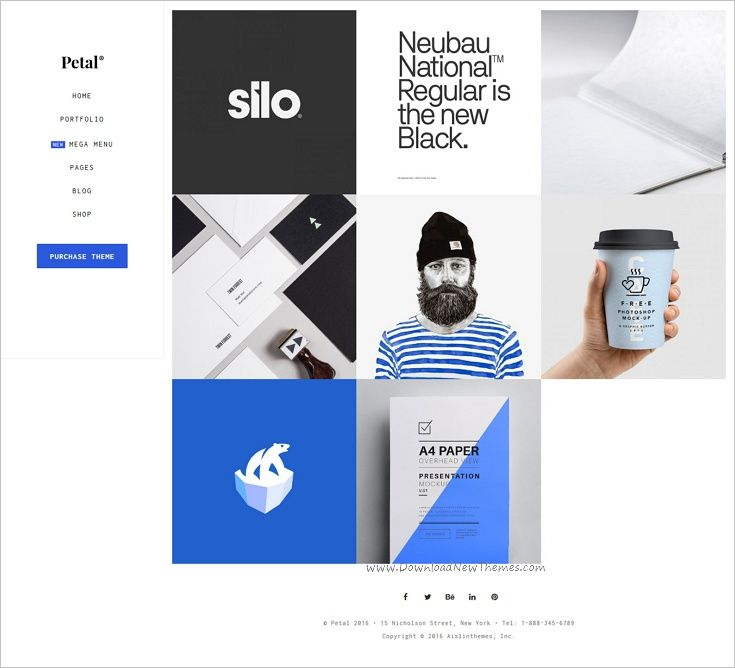 Petal is a minimal and creative #WordPress theme for #portfolios, agencies, #freelancers or artists professionals website with 11 unique homepage layouts download now➩  https://themeforest.net/item/petal-creative-portfolio-for-freelancer-and-agency/16573455?ref=Datasata