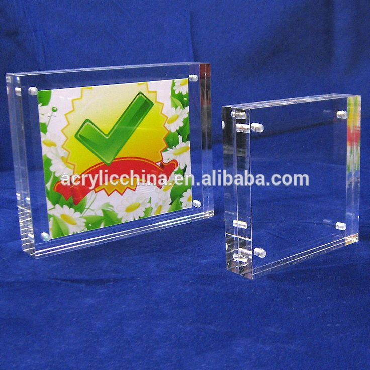 Clear magnetic double sided acrylic wholesale photo picture frames 5*7