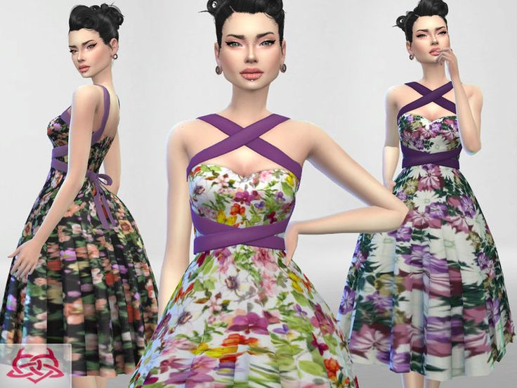 30 recolors floral version Found in TSR Category  Sims 4 Female Everyday. 64 best sims 4 rockabilly pinup style images on Pinterest   Pinup
