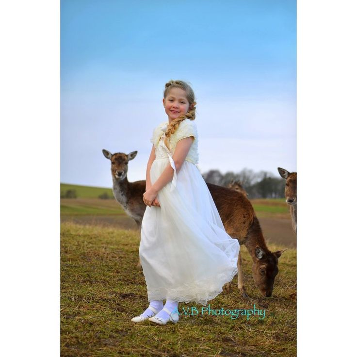 """Eternal Marie"" Chiffon kjole i ivory"