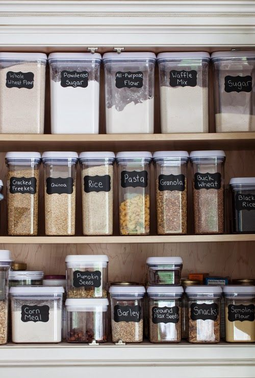 superb Designer Kitchen Storage Containers #6: @melangery does a complete kitchen and pantry makeover and takes you on her  re-