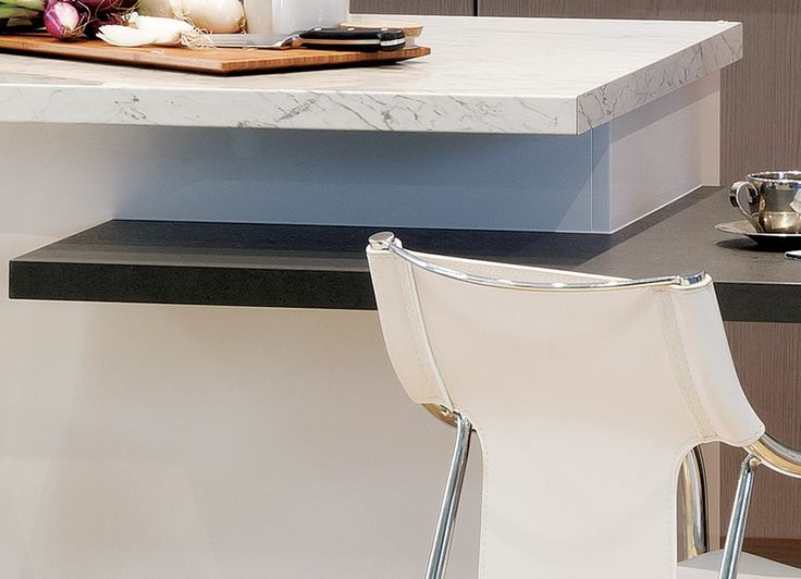 Stone benchtop... or is it? We've found a way to replicate stone benchtops in a laminate that will have your family and friends tapping away to see if they're real. Visit kaboodle.com.au for more inspiration!