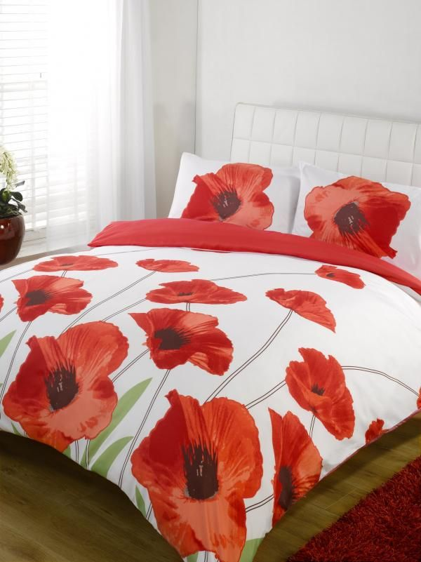 Poppies Bedspread Amapola Poppy Red Single Duvet Cover