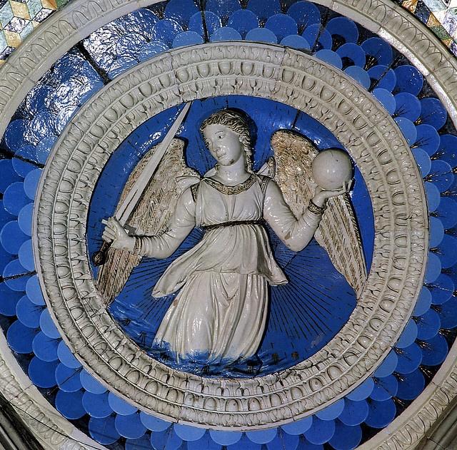 Luca della Robbia - Giustizia. Firenze, San Miniato, cappella del cardinale del Portogallo by renzodionigi, via Flickr
