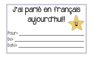 Primary French Immersion Resources: Les certificats