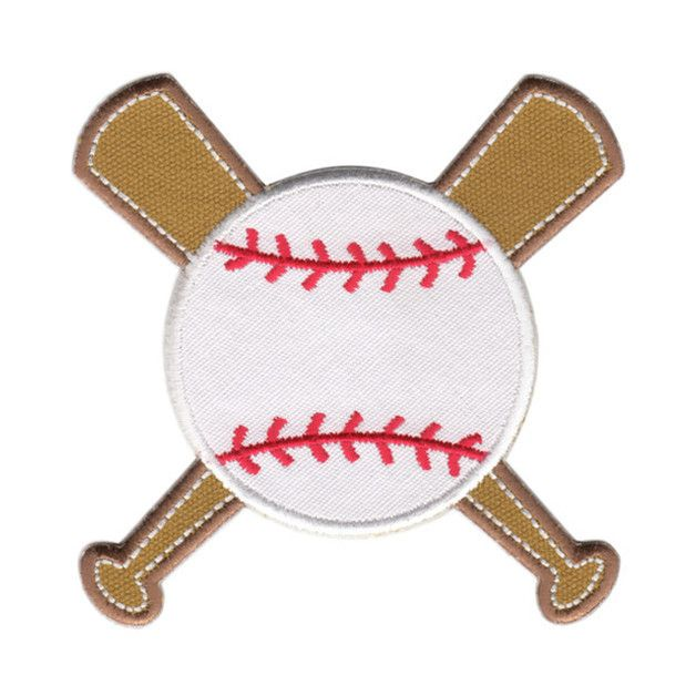 Baseball Iron-On Applique Patch