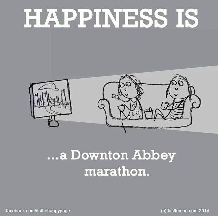 Downton Abbey marathon = happiness