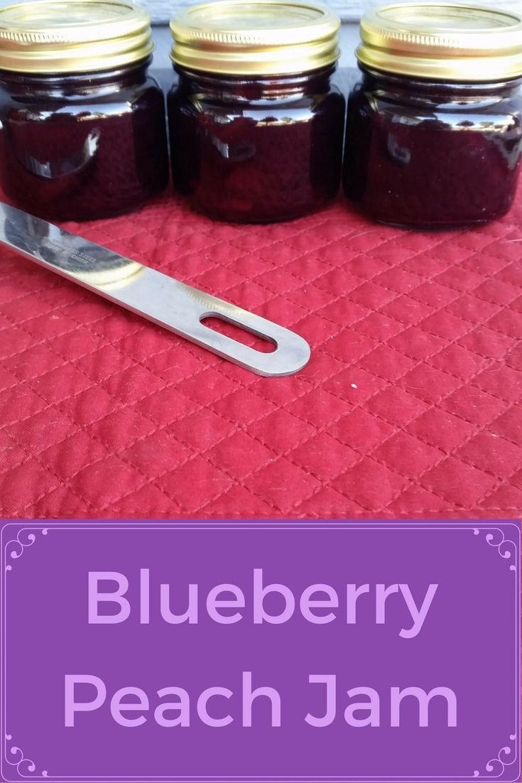 What could be better than two of the summer's best fruits in a jam? Blueberry Peach Jam is the best!