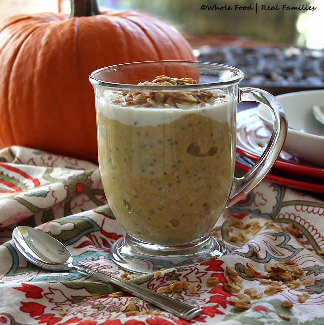 Pumpkin Overnight Oats with Chia are a perfect solution for all that pumpkin. Rich and creamy, with a little maple and lots of pumpkin spice.