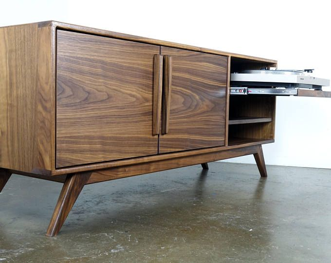 The Stella J Is A Mid Century Modern Tv Console Credenza Tv