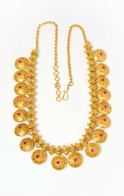 Indian Jewellery : Gold temple jewellery