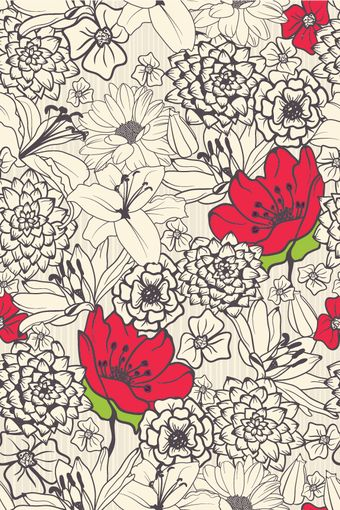Accent Bouquet Removable Wallpaper * this site has tons of really awesome wallpapers *