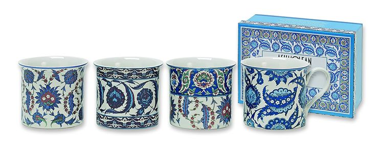 Heath McCabe Empress Ashmolean Iznic Collection Mugs, Set of 4: Amazon.co.uk: Kitchen & Home