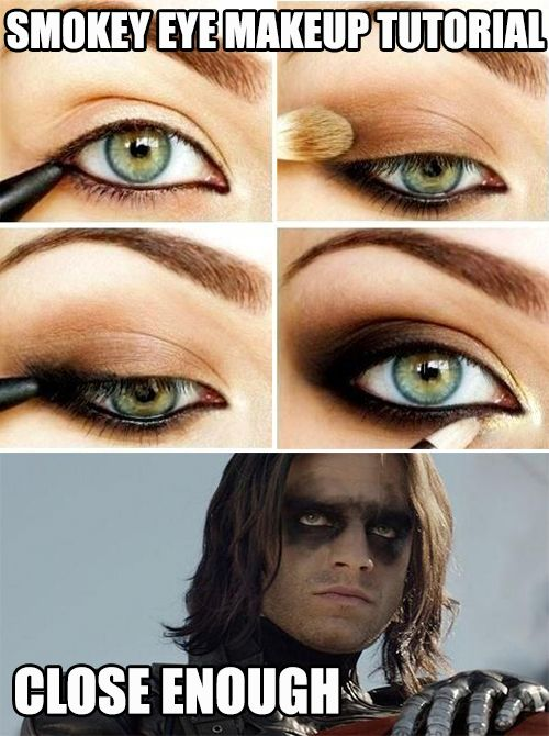 Smokey eye make up tutorial ... close enough.                                                                                                                                                     More
