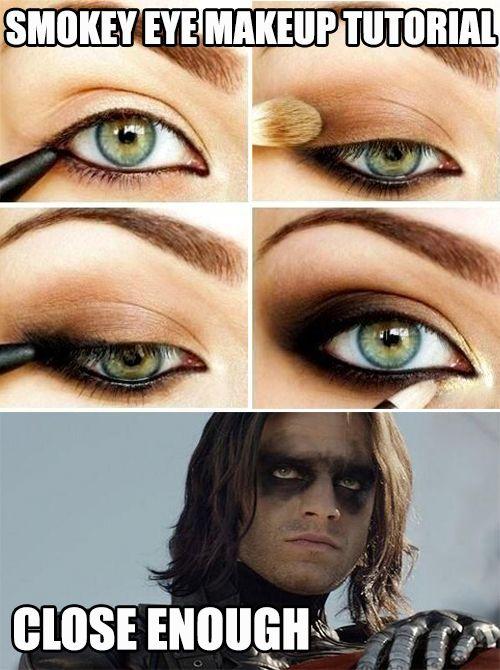 Smokey eye make up tutorial ... close enough.